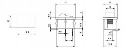 sonda installazione tastatore on//off 19 x 12mm Oltre ad ascoltare tutte tastatore 3a//230v molla sdraietta s32