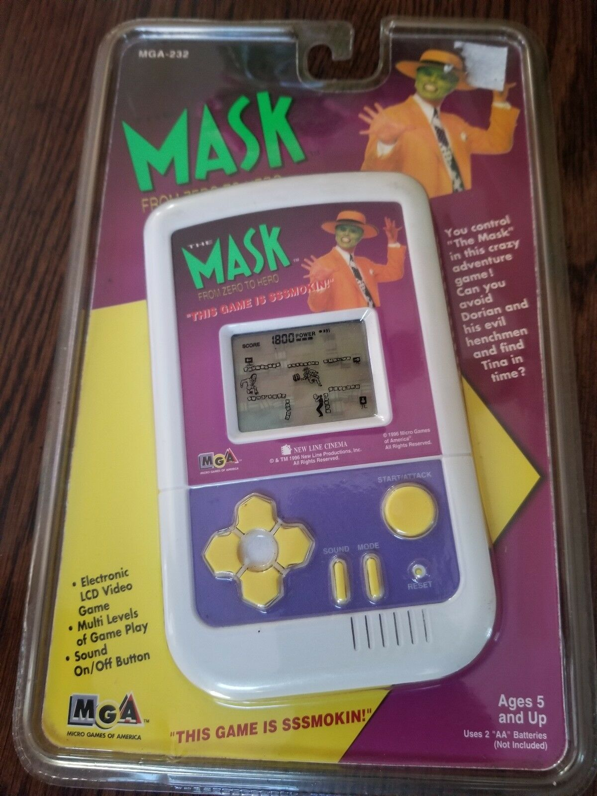 The The The Mask From Zero To Hero Handheld Game 1996 MGA 0353de