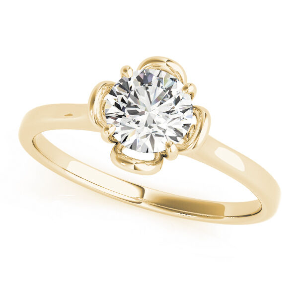 0.33 CT ROUND MOISSANITE FOREVER ONE ENGAGEMENT RING