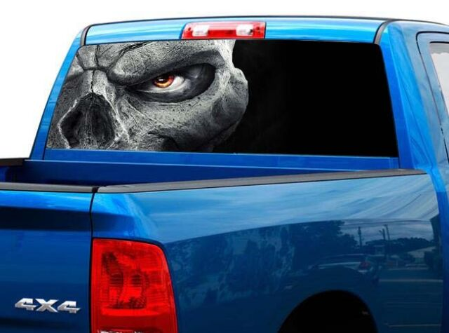 Racing Cars Pick-Up Truck Perforated Rear Window Wrap
