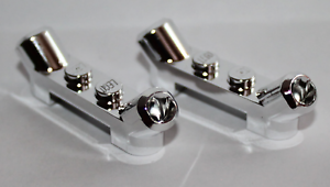 NEW!!! Lego Silver Chrome Plate Modified 1x4 Angled Tubes 61072
