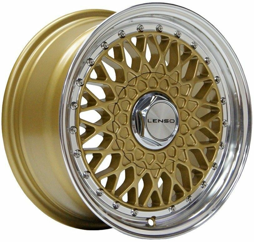 16    gold Bsx Alufelgen für 4x100 BMW Mazda Mitsubishi Nissan Modelle  low-key luxury connotation