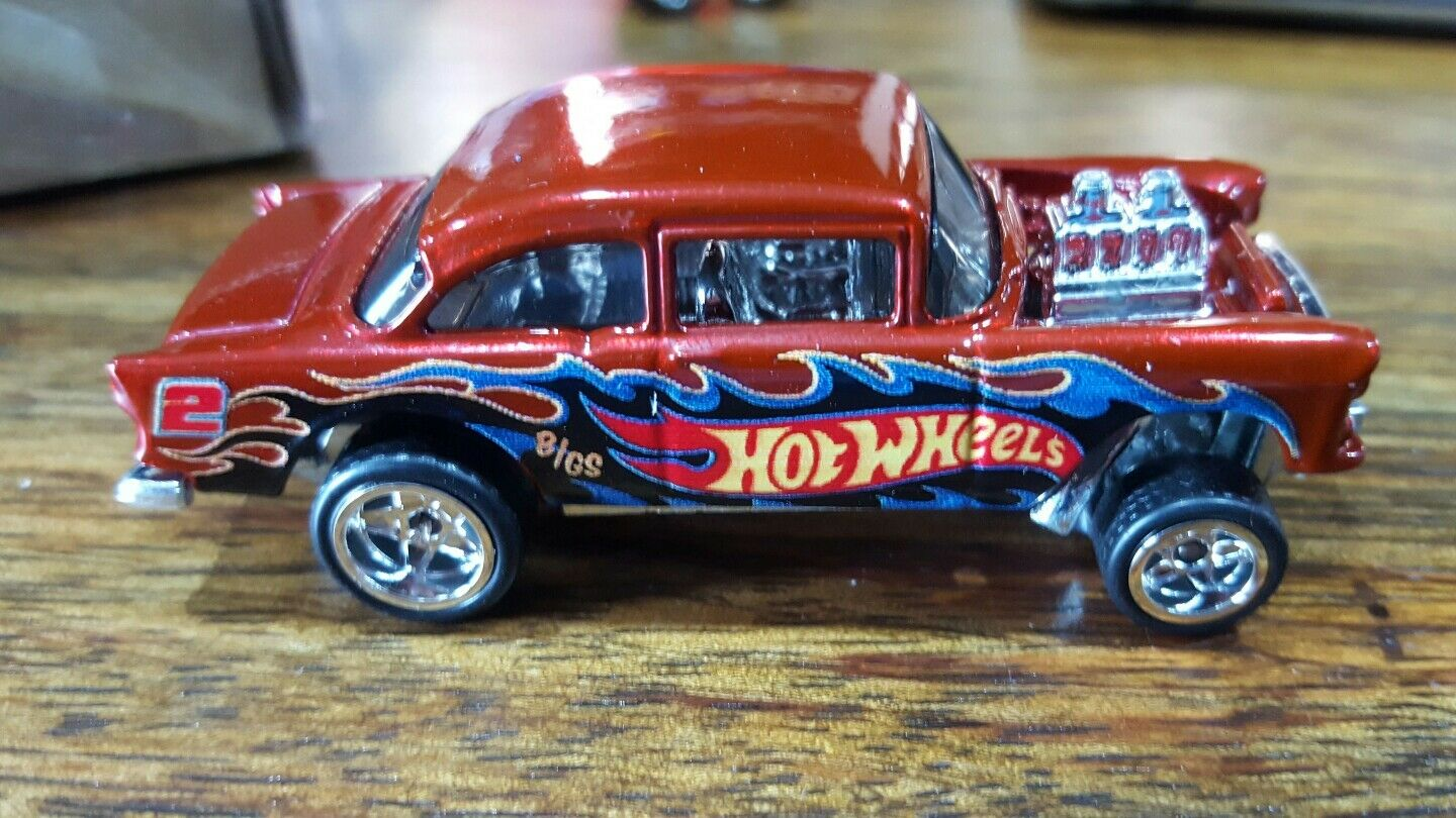Hot wheels 2018 post '55 chevy bel air gasser nichtversponnenen unrivett stichprobe