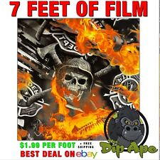 Hydrographic Film Firefighter Skulls Hydro Dip Dipping 7 X 20