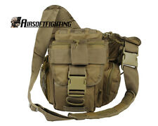 Outdoor Tactical Molle 1000D Utility Military Shoulder Bag Pouch Ver2 Tan