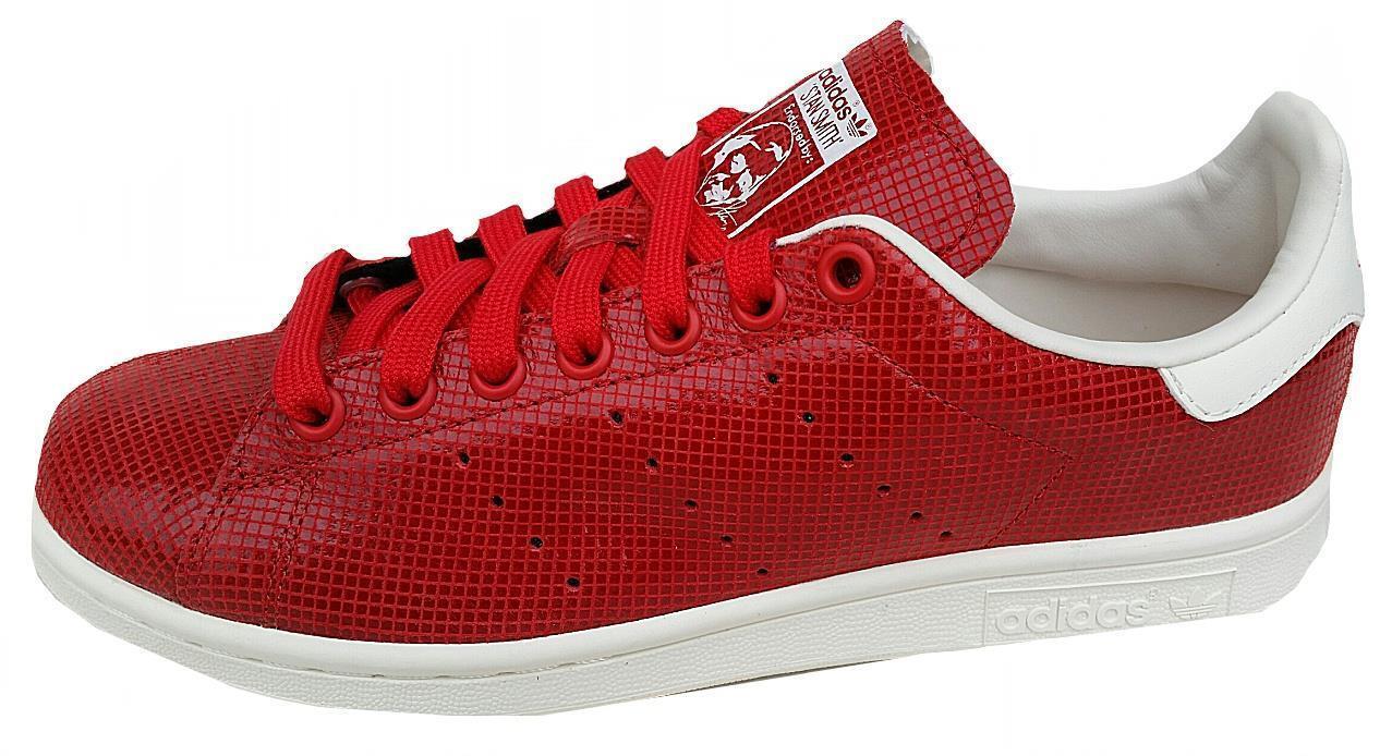 Adidas para mujer Stan Smith M20810 Reino Unido 6,7 .5, 8 Caramelo Rojo Cuero Nuevo En Caja