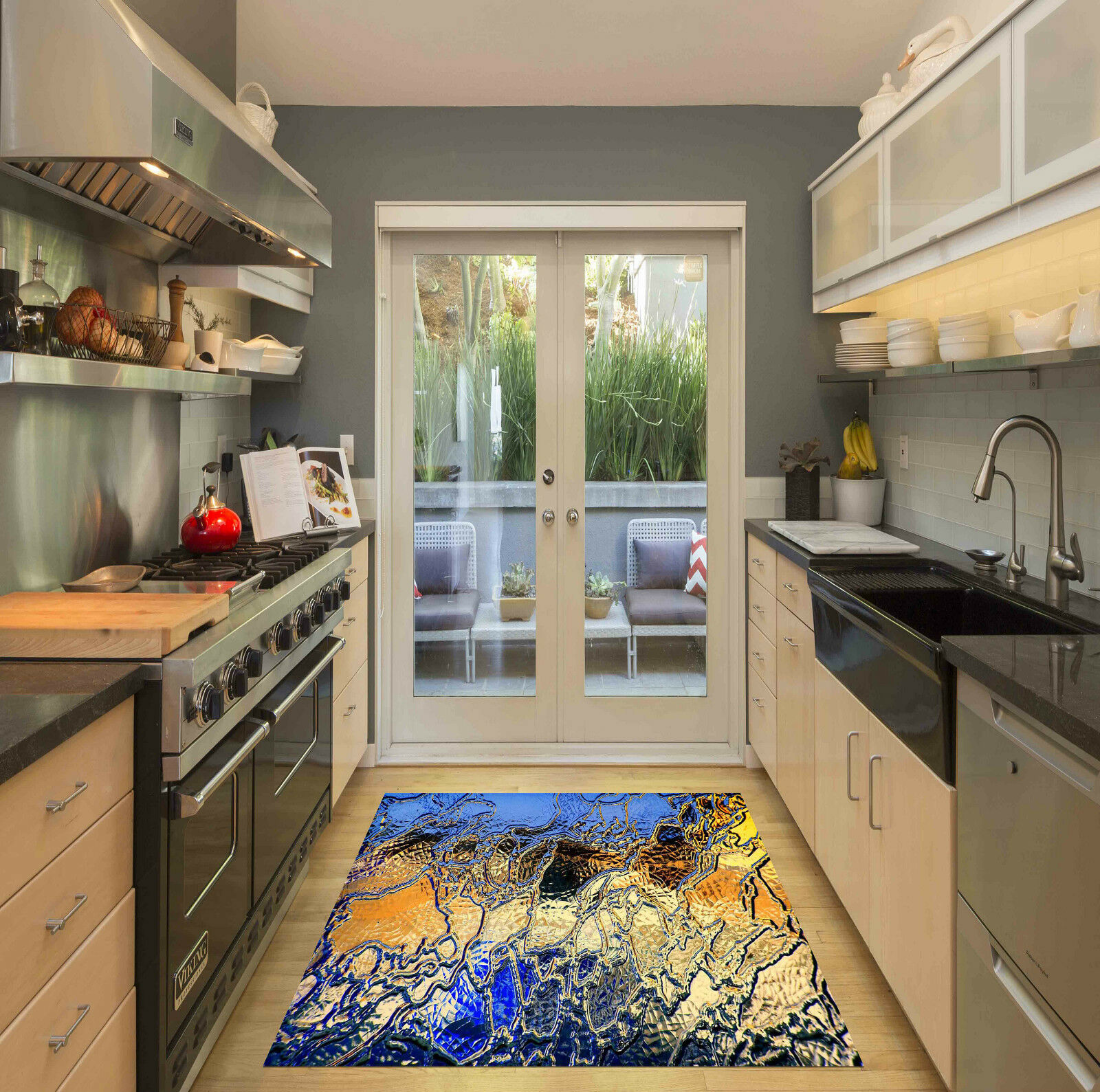3D Brillant En Verre Motif Décor Mural Murale De Mur De Cuisine AJ WALLPAPER FR