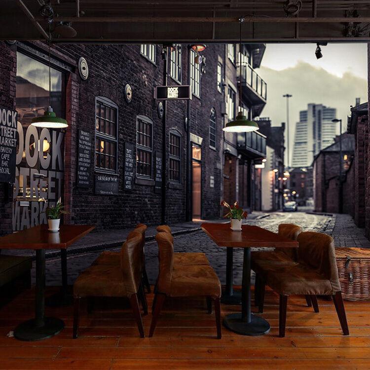 3D Strada nero nero nero 36 Parete Murale Foto Carta da parati immagine sfondo muro stampa c70c9d
