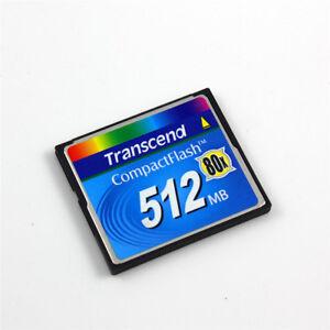 100% De Qualité Transcend 512 Mo Compact Flash Carte Cf, Carte Mémoire 80x-afficher Le Titre D'origine