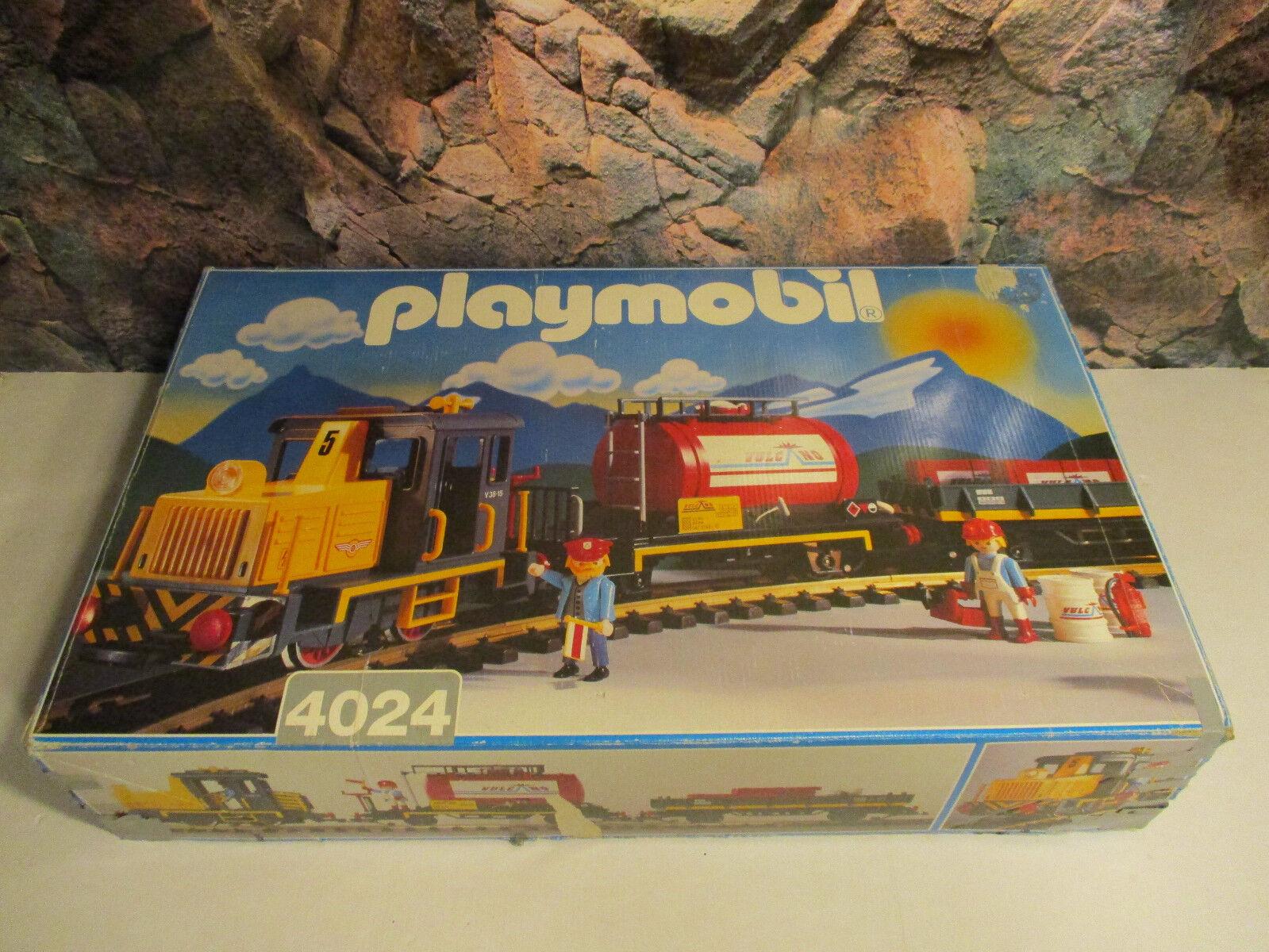 ( Go) 4024 Tren de Carga 2X Vagones Mercancías+Locomotora Diesel+12 LGB Pistas