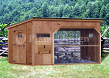 6 X 12 Walk In Modern Chicken Coop Plans Material List Included