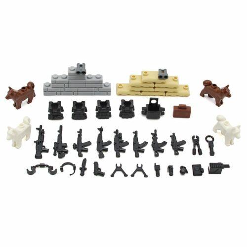 Bsp Kazi® Lego® Armee Waffen Set A passend für alle Blockspielsysteme wie z