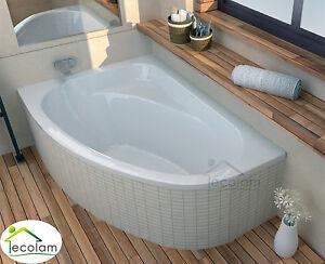 badewanne eckbadewanne wanne acryl 140 x 80 cm f e ablauf siphon silikon links ebay. Black Bedroom Furniture Sets. Home Design Ideas
