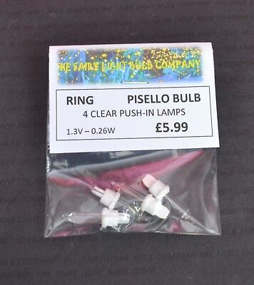 0215 HOMEBASE PISELLO GAZEBO 12 VOLT 0.82 WATT LAMPS,SHADES /& SEALS 4 PACK