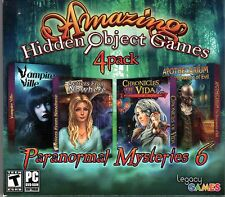 CHRONICLES OF VIDA Hidden Object  4 PACK PARANORMAL MYSTERIES VOL VI PC Game NEW
