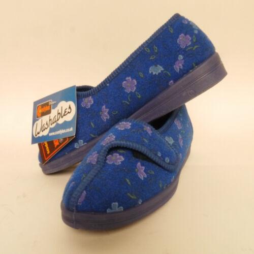 con blu donna largo Comfylux taglio linguetta a Pantofole Diana xAqnBBw