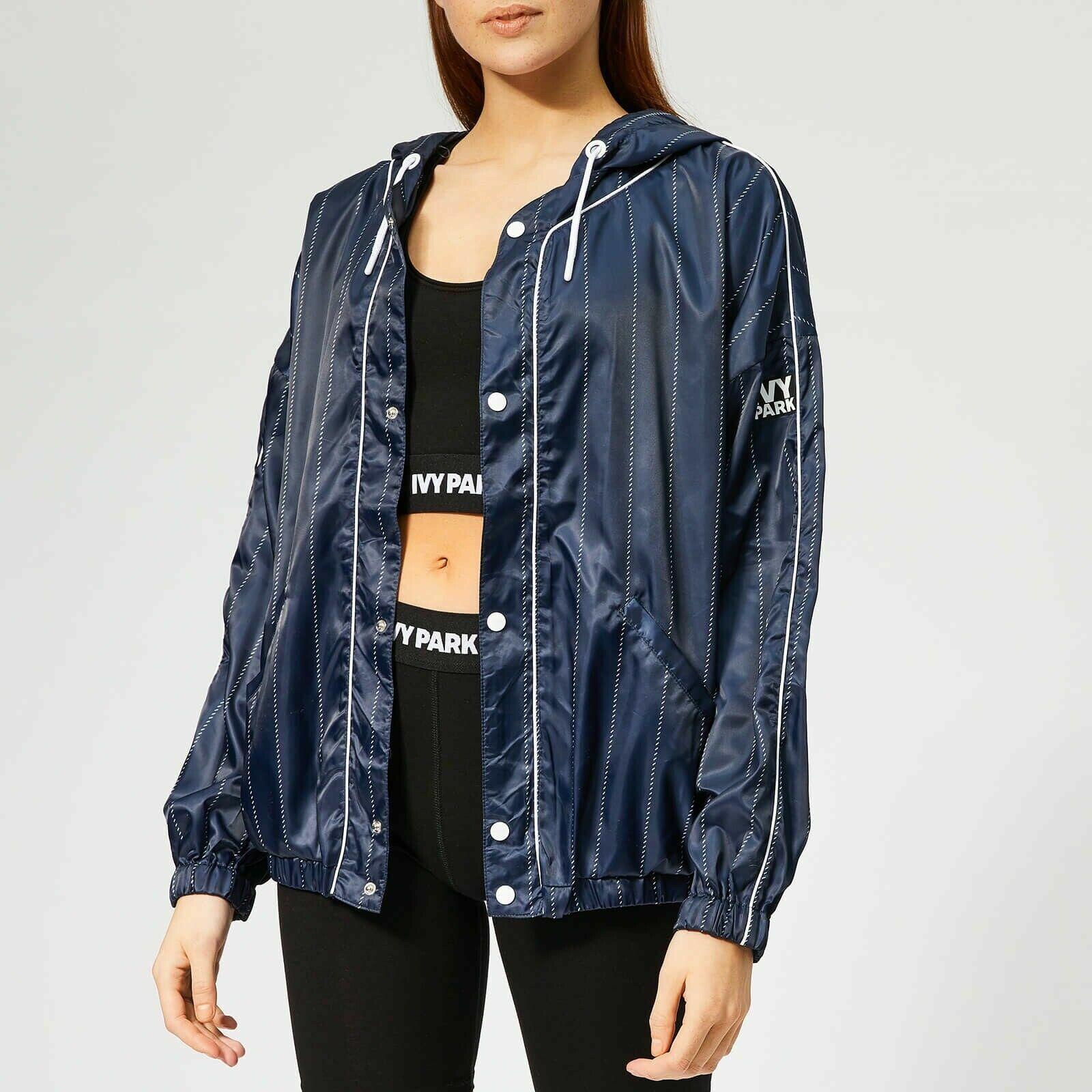 Ivy Park Women's Blue Active Baseball Stripe Jacket Sz XS NWT