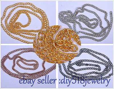 5 yard 3*2.5*0.4mm Chain Jewelry Accessory high strength HI-Q silver plated 4003
