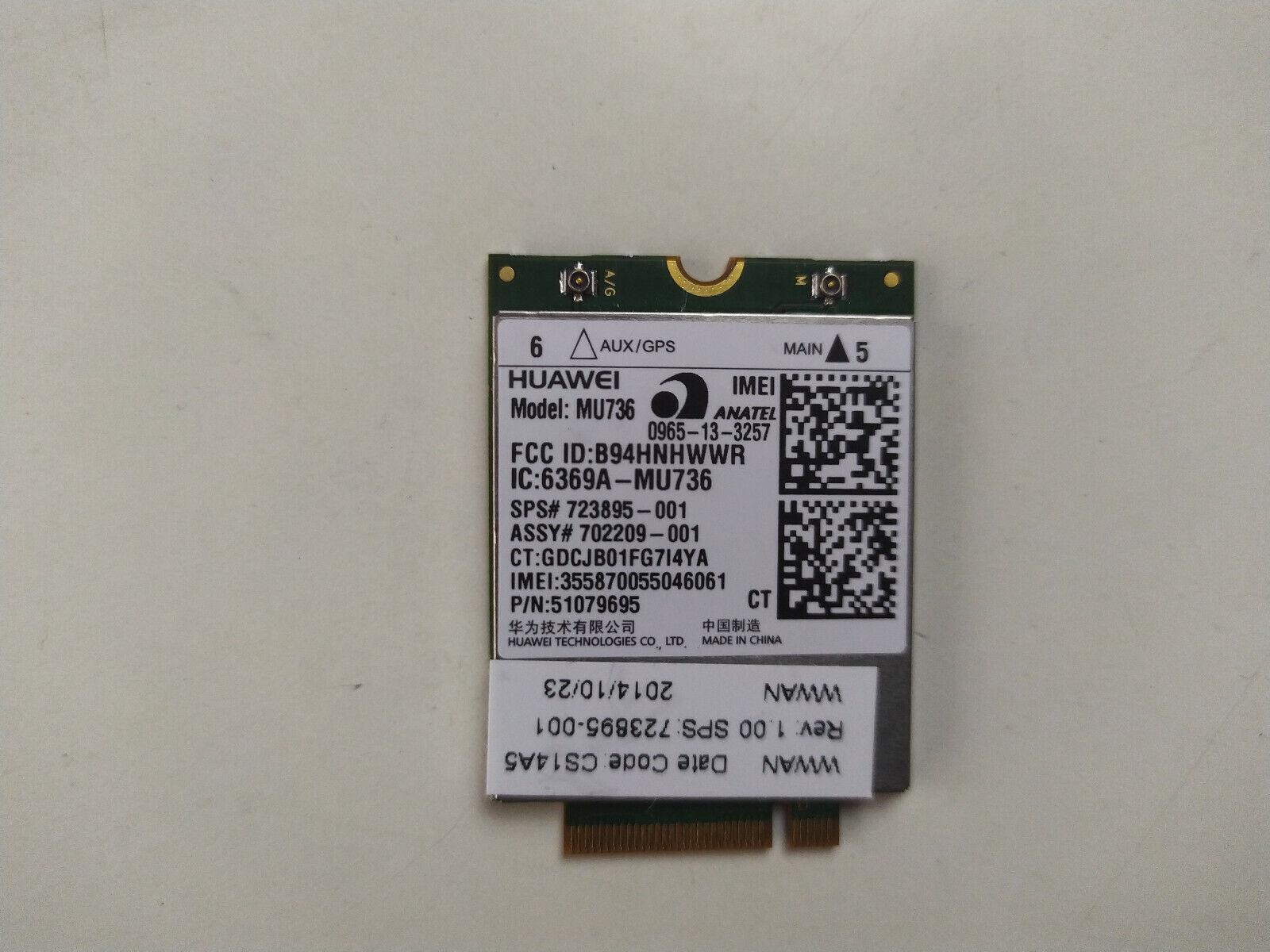HP Elitebook 820 G1 840 G1 Probook 650 G1 Modem Card 723895-001 702209-001