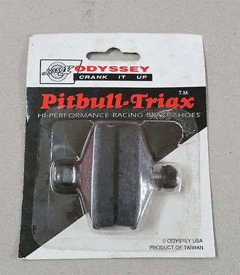 Vintage Retro ODYSSEY Pitbull-Triax Brake Shoes Old School NOS Freestyle White