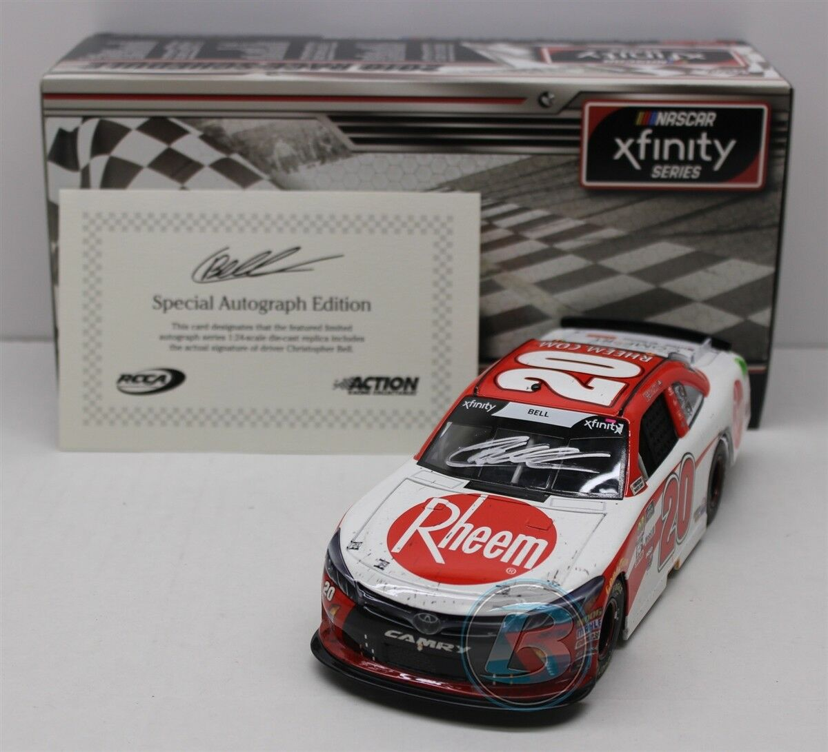 CHRISTOPHER BELL 2018  20 AUTOGRAPHED RHEEM RICHMOND RACED WIN 1 24 FREE SHIP