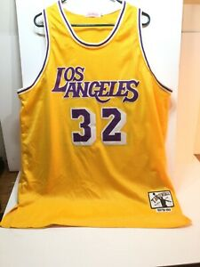 sale retailer 0496c 54f0a Details about Shaquille O'Neal #32 LA Lakers Jersey Throwbacks Blacktop  Edition Rare