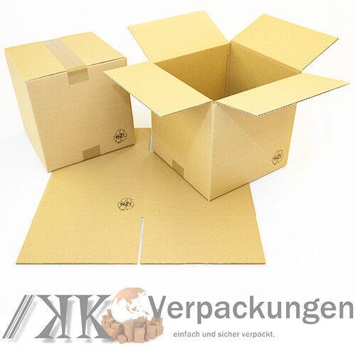 25 Faltkartons 250 x 250 x 250 Kartons braun 1 wellig