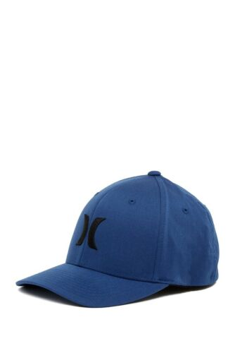 Hurley Men/'s S//M Icon Solid Flex Fit  Men/'s Royal Blue Logo Hat Baseball Cap