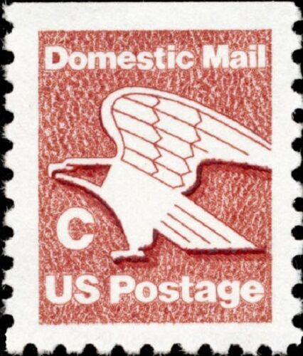 1981 20c C & Eagle, Domestic Mail Scott 1948 Mint F/VF