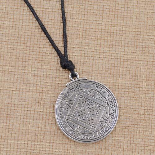 Loving Solomon Key Necklace Vintage Magic Letter Figure Amulet Pendant Jewelry