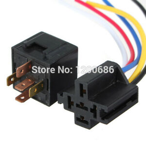 20 pack 12 volt 30 40 amp bosch tyco type spdt automotive relay rh ebay com spdt relay socket harness SPST Relay