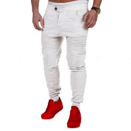 Mens Harem Trousers Tracksuit Jogging Skinny Jogger Gym Sports Sweat Track Pants