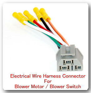 5 wire pigtail electrical harness connector for blower motor fits disassemble ford wiring harness connectors image is loading 5 wire pigtail electrical harness connector for blower