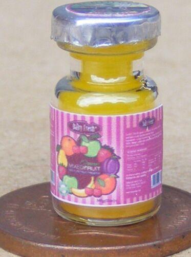 1:12 Scale Glass Jar Of Mixed Fruit Jam Tumdee Dolls House Kitchen Preserve