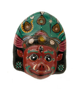 Maschera Nepalese Barahi Dance Indra Jatra Festival Nepal Carta Mache Mask 909