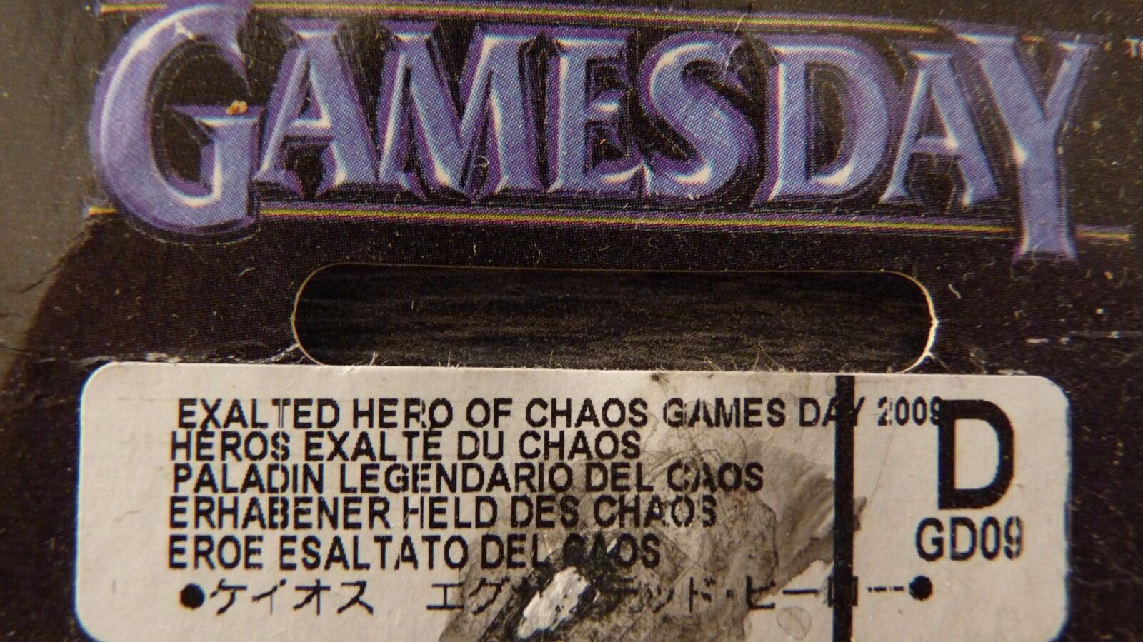 WARHAMMER FANTASY LIMITED EDITION GAMES GAMES GAMES DAY 2009  EXALTED HERO OF CHAOS MIB RARE 52e626