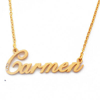 18ct Rose Gold Plated Personalized Custom Name Necklace Heart Shaped Kigu Sophia