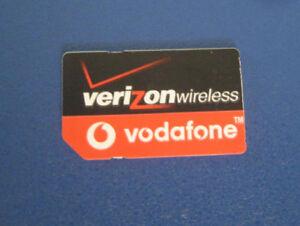 Verizon-vodafone-Standard-size-SIM-Card-No-Service-for-Test-Bypass-only