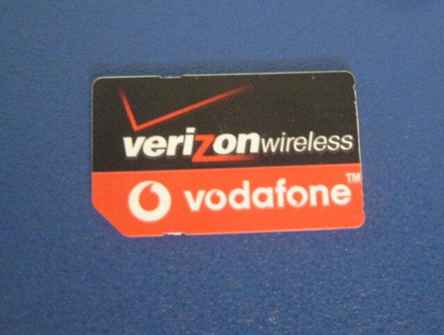 Verizon vodafone Standard size SIM Card No Service for Test/Bypass only