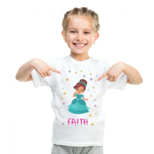 Personalizzato CUSTOM YOUTH/'S T-Shirt Kids T-shirt stampate per Bambini Principessa