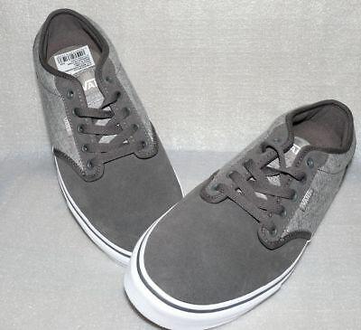 Details zu Vans Atwood Rau Up Leder Herren Schuhe Freizeit Sneaker Gr 42 US9 Grau Weiß