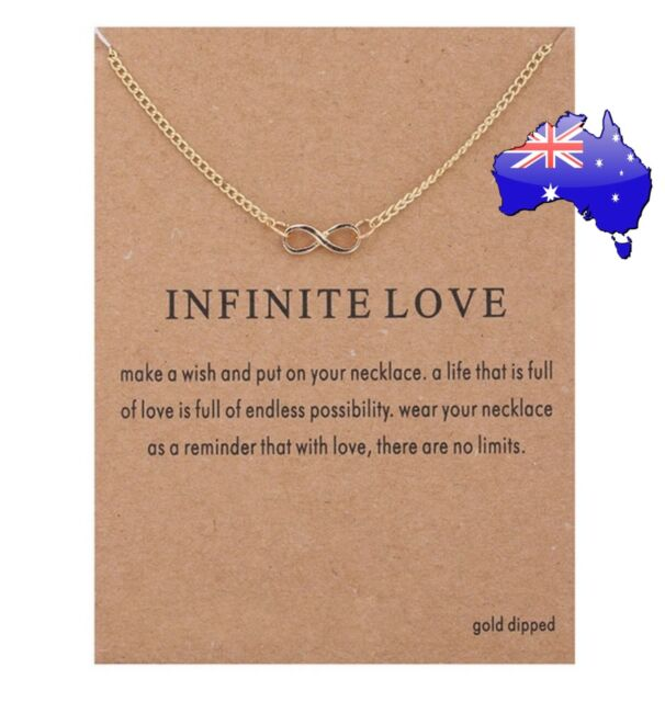 Dogeared Infinite Love Gold Dipped Infinity Pendant Necklace + Card & Gift Pouch