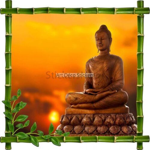 Sticker autocollant Cadre bambou Bouddha 7187