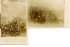 Group of Men w/ Walking Canes-Packages-2 RPPC-Real Photo Vintage Postcard Lot