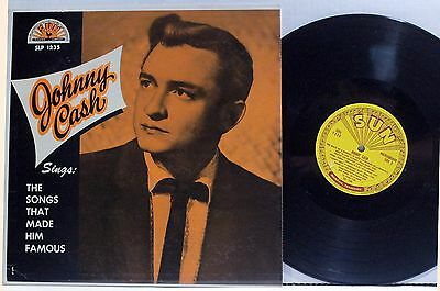 JOHNNY CASH The Songs That Made Him Famous LP SUN SLP 1235