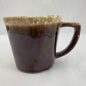 Vintage McCoy USA Brown Drip Glazed Pottery 8 Oz. Coffee Cup/Mug
