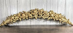 37-034-SYROCO-Gold-Fleur-de-lis-Garland-Swag-Wall-Hanging-4762-Bed-Crown