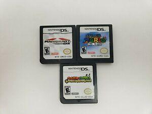 Lot-Of-3-Nintendo-DS-Games-Super-Mario-Mariokart-And-Mario-amp-Luigi-Bowser