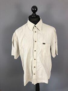 WRANGLER-Retro-Short-Sleeved-Shirt-Large-Linen-Great-Condition-Men-s