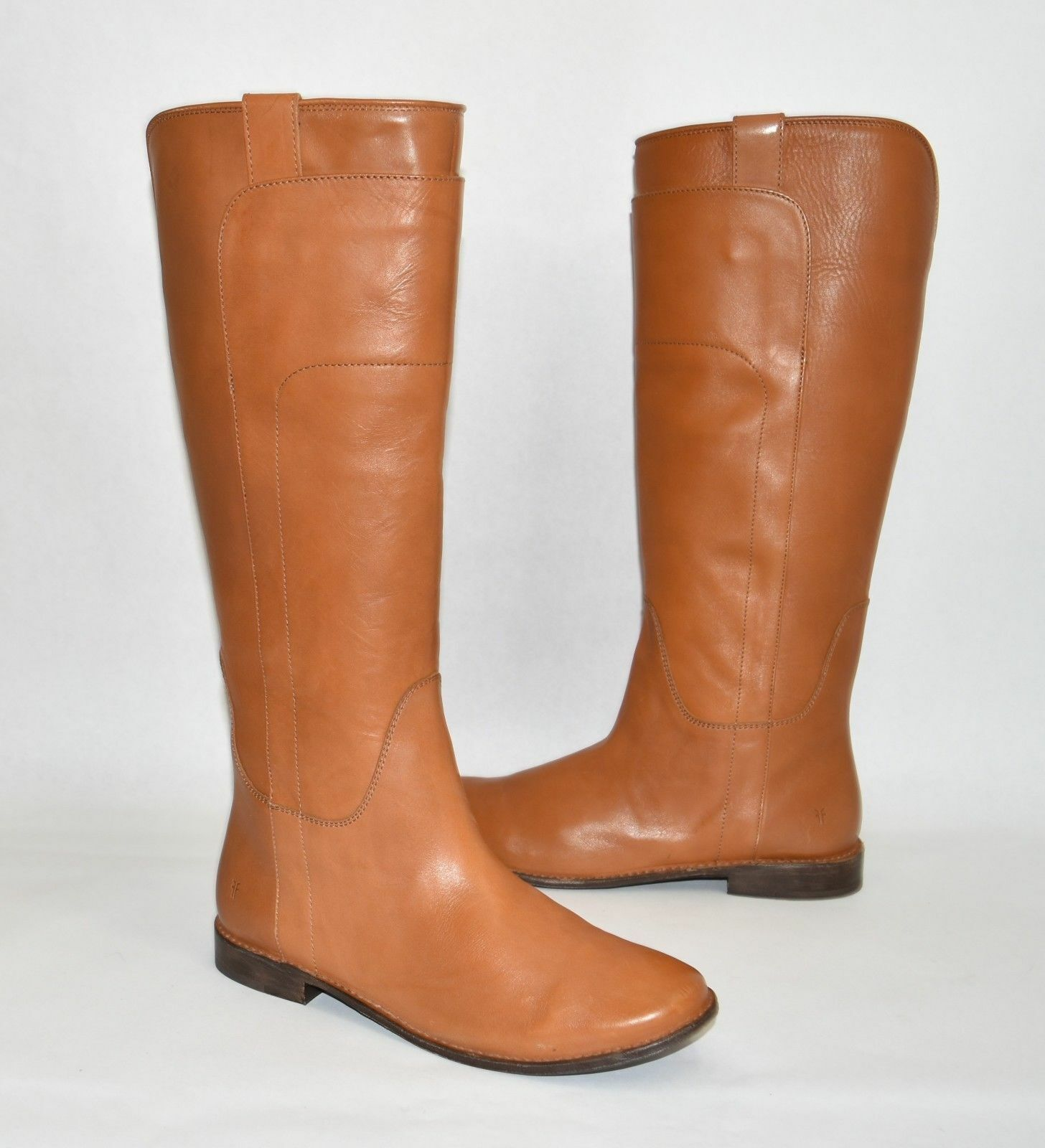 New  Frye 'Paige' Tall Leather Riding Boot Cognac Cognac Cognac Leather Size 10 B  3476536 1224df